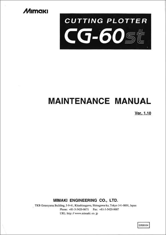 mimaki cg 60st user manual